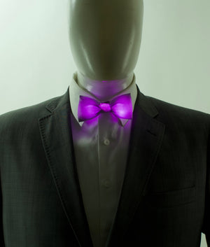 Standard Color Glowing LED Bow Tie | Solid Color