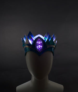"""Classic"" Teal & Silver Holographic Crown 