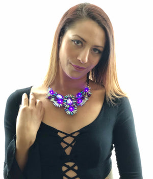 The Heiress purple glowing necklace