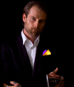 Dual Color Glowing Pocket Square | Triangle Fold