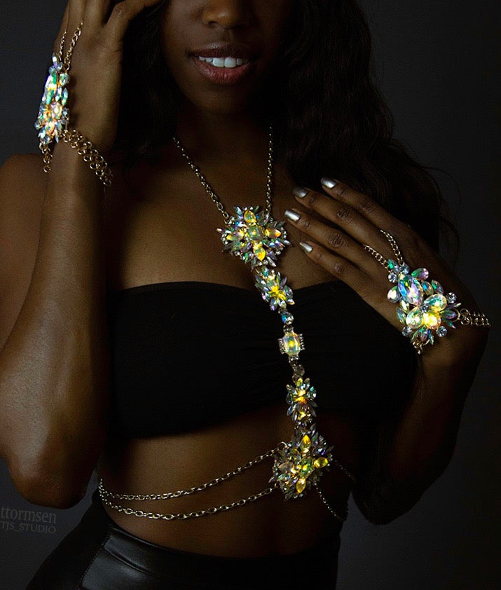 Light Up Body Chain - Short Empress LED Jewelry