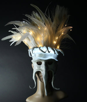 Illuminated Masquerade Mask - LED Mask - Light Up Mask - White - Made to Order
