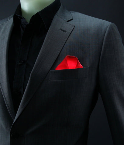 Red Glow LED Pocket Square Solid Color