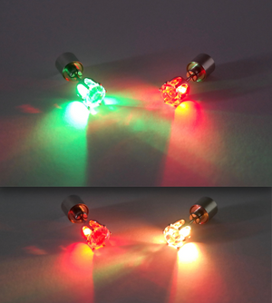 PROMO FREE LED Earrings | Glowing Crystal Stud earring