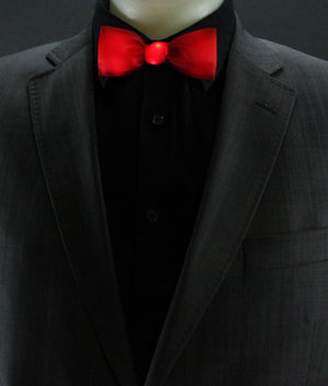 Glow LED Bow Tie Solid Color Red