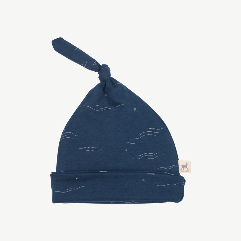 'tides & stars' poseidon blue knotted beanie