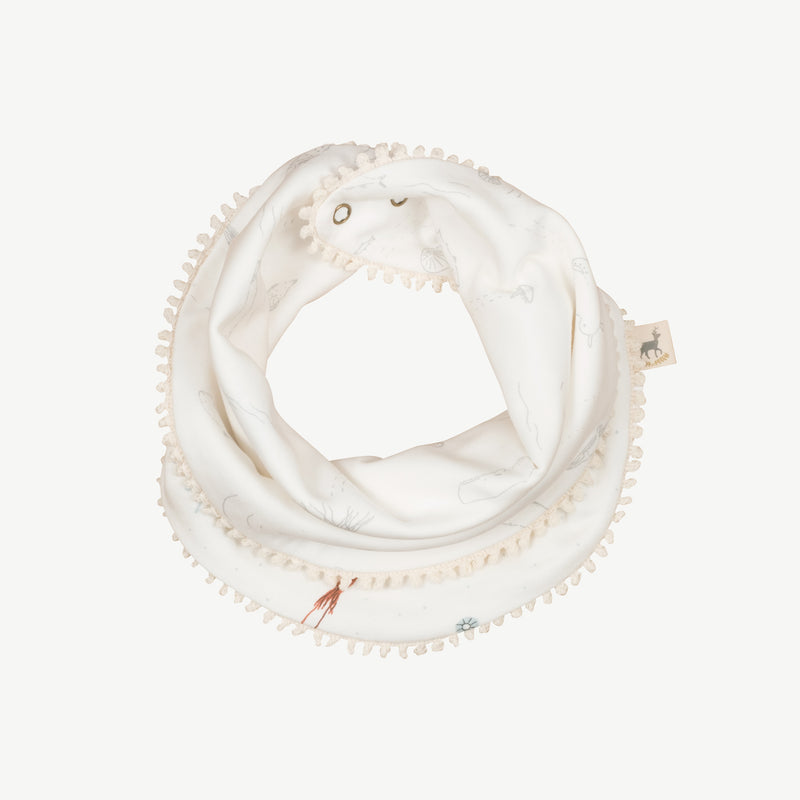 'deep findings' eco white reversible bandana