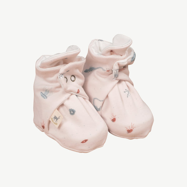 'deep findings' heavenly pink booties