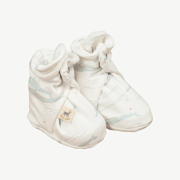 'passing whales' eco white booties