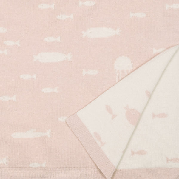 'stranger fish' heavenly pink knit blanket