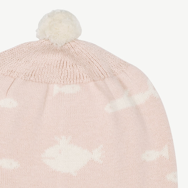 'stranger fish' heavenly pink knit beanie