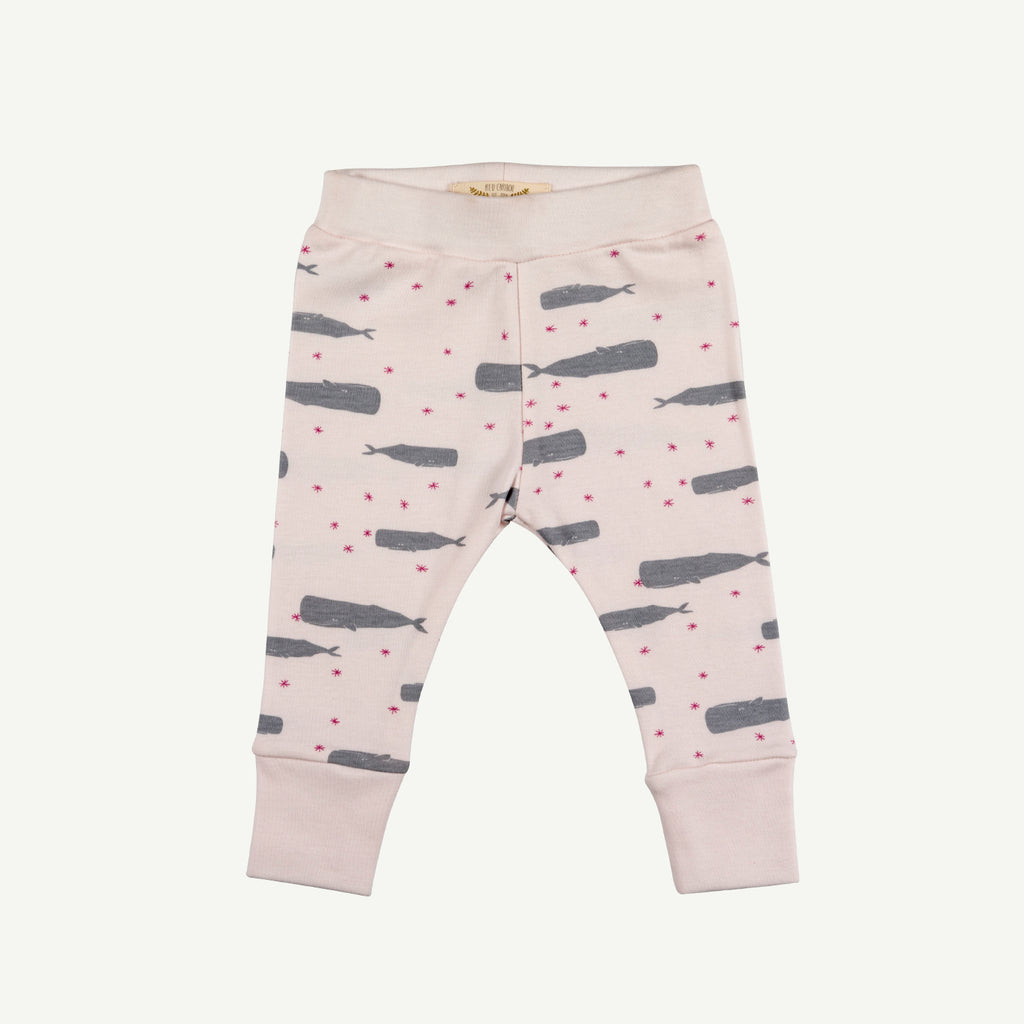 twinkle whales ice pink leggings