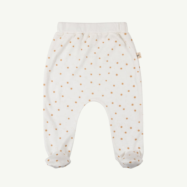 'magic flakes' organic footie pants