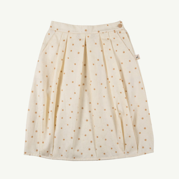 'magic flakes' ivory woven skirt