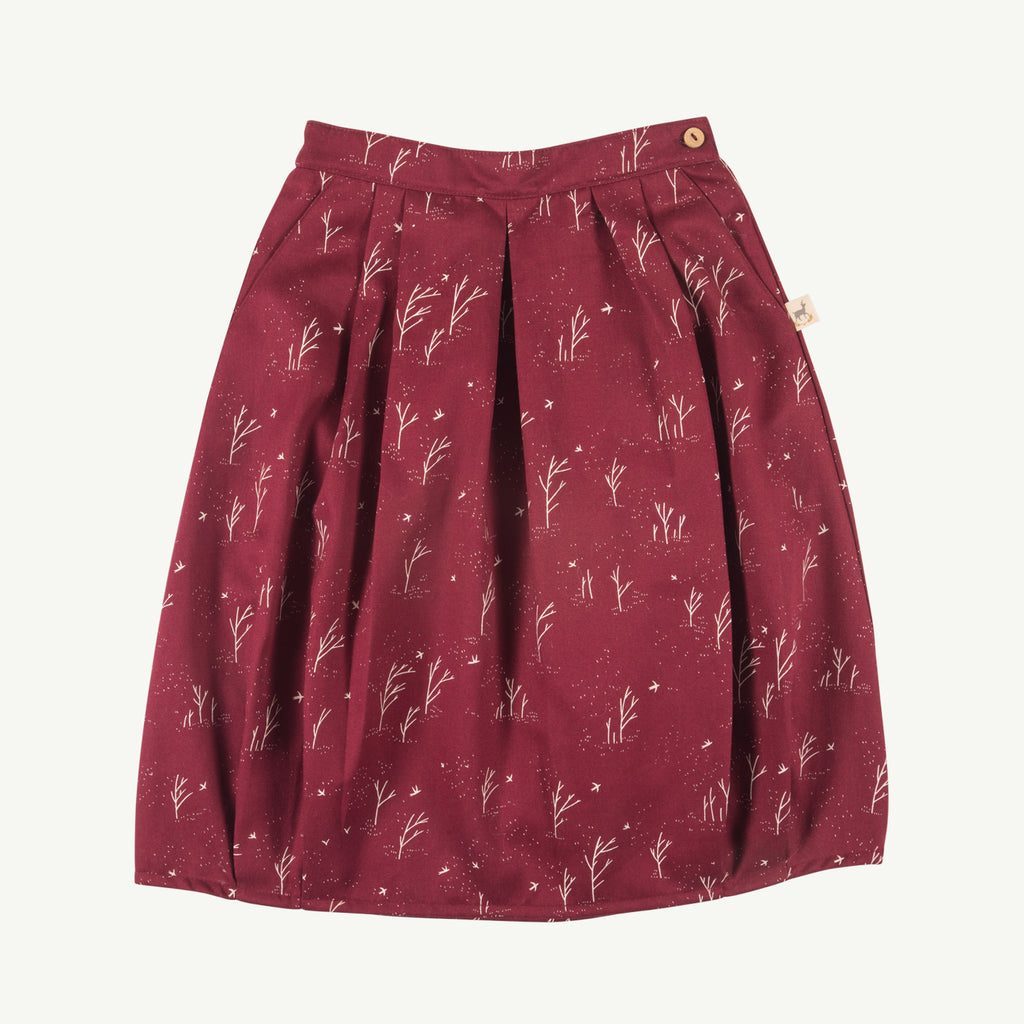 'winter storm' tibetan red woven skirt