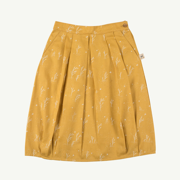 'winter storm' nugget gold woven skirt
