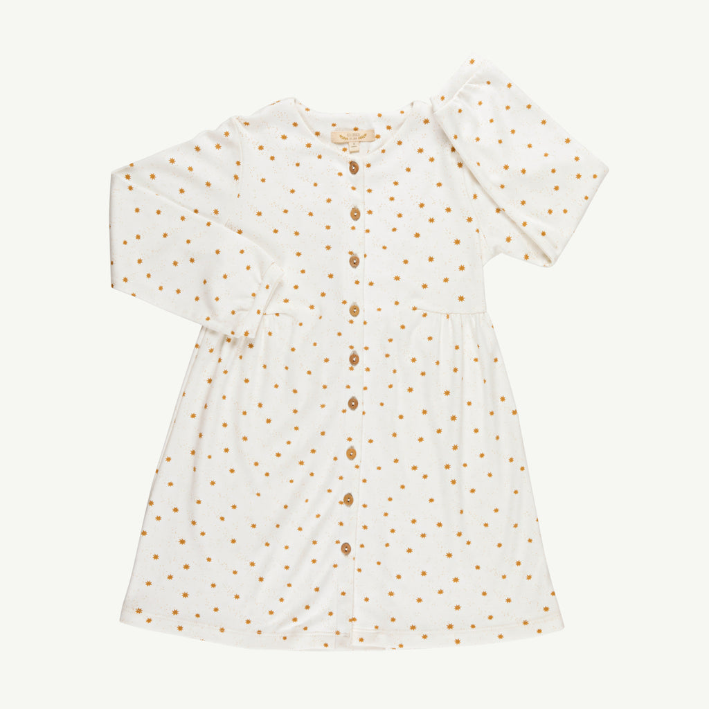 'magic flakes' organic eco-white shirt dress