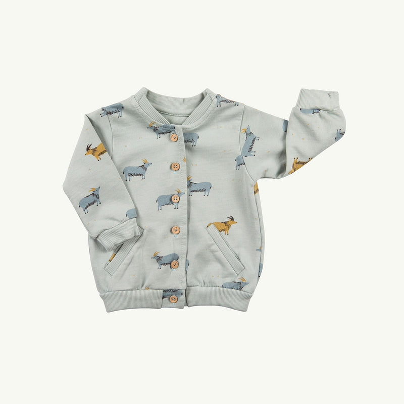 'golden blue goat' sky gray cardigan