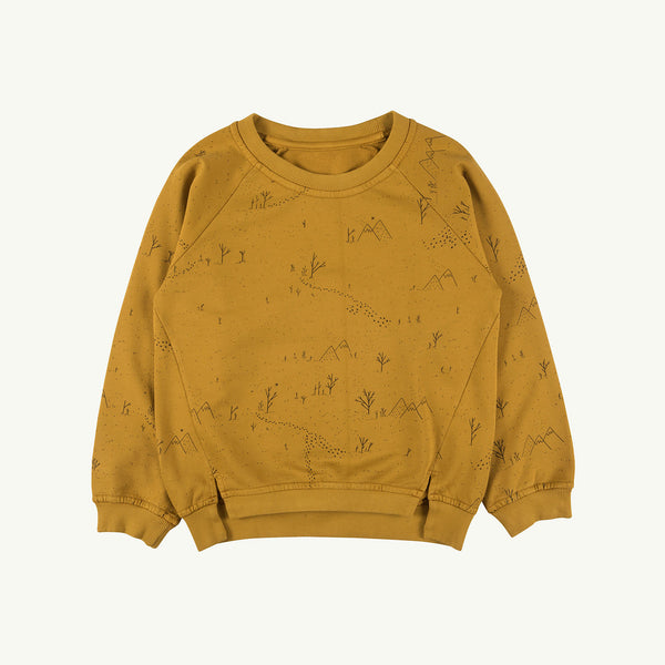 'yeti tracks' arrowwood sweatshirt