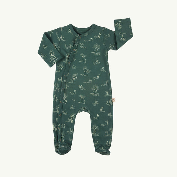 'the tundra' garden topiary footed jumpsuit