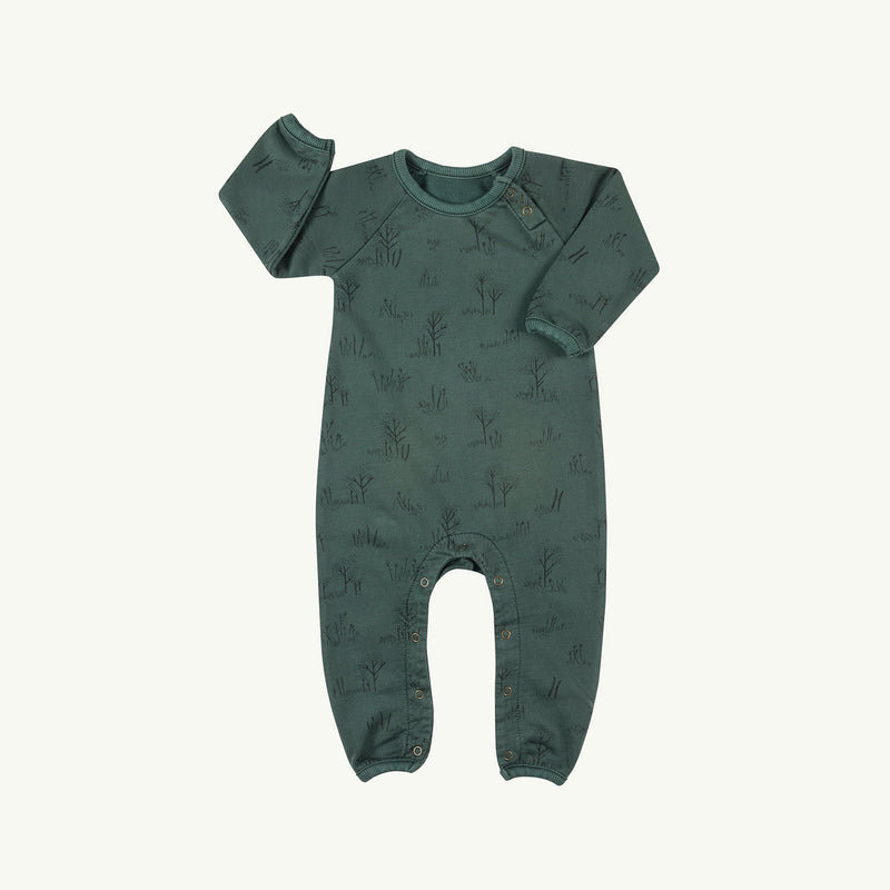 'the tundra' garden topiary french terry jumpsuit