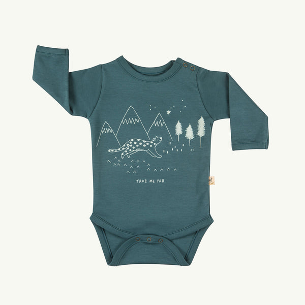 'take me far' balsam onesie