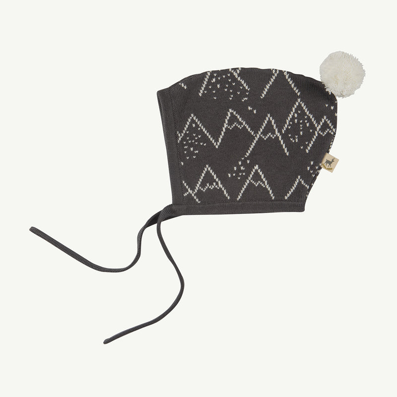 'little mountains' turkish coffee knitted beanie