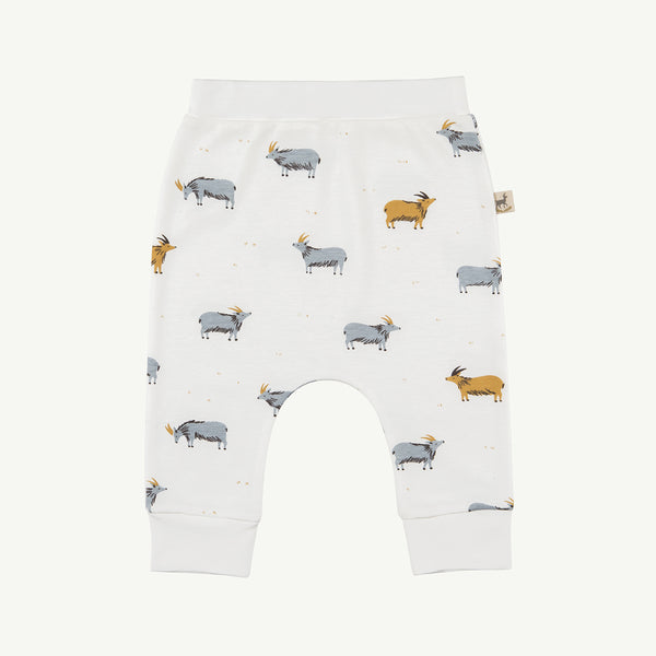 'golden blue goat' organic baggy pants