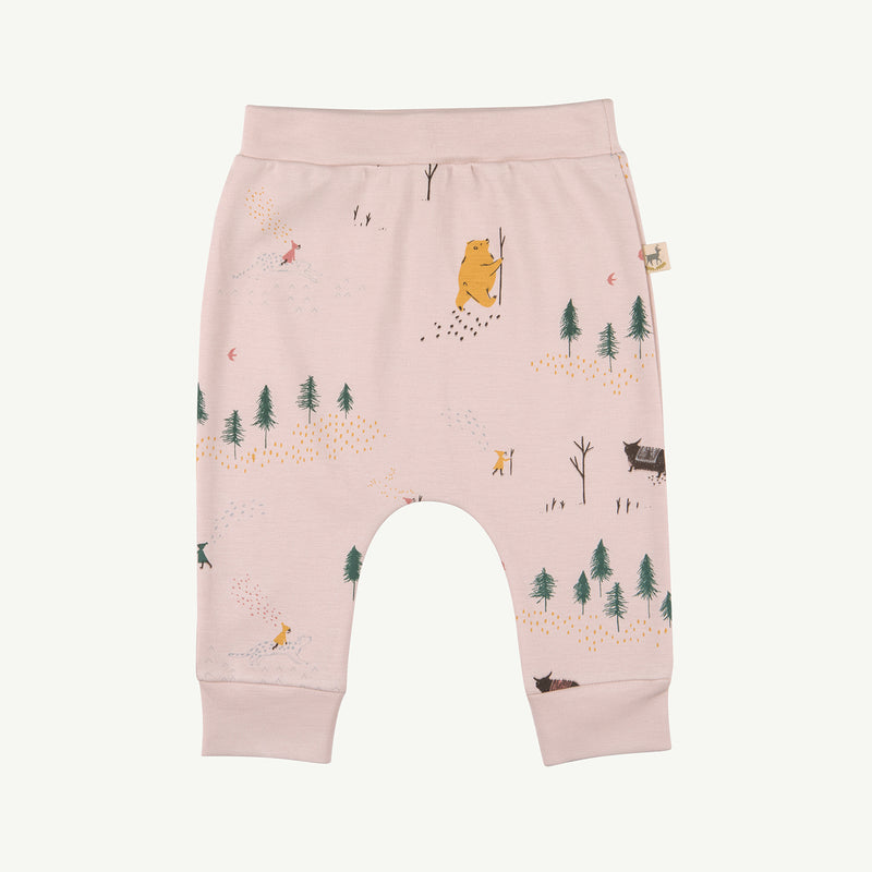 'up the mountain' peach whip baggy pants