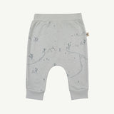 'yeti tracks' sky gray baggy pants