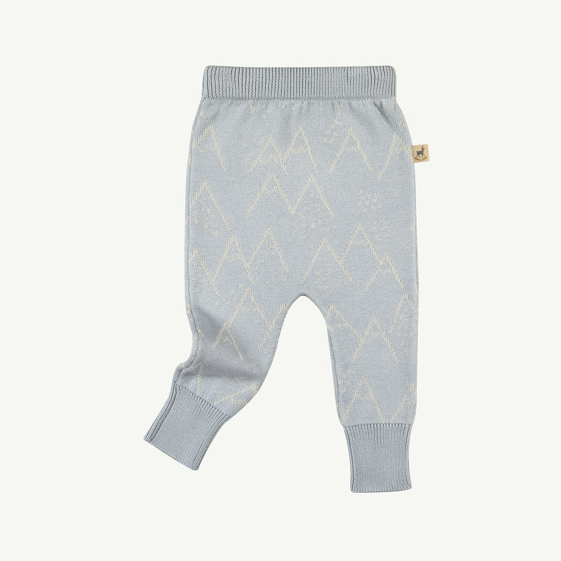 'little mountains' sky gray knitted pants