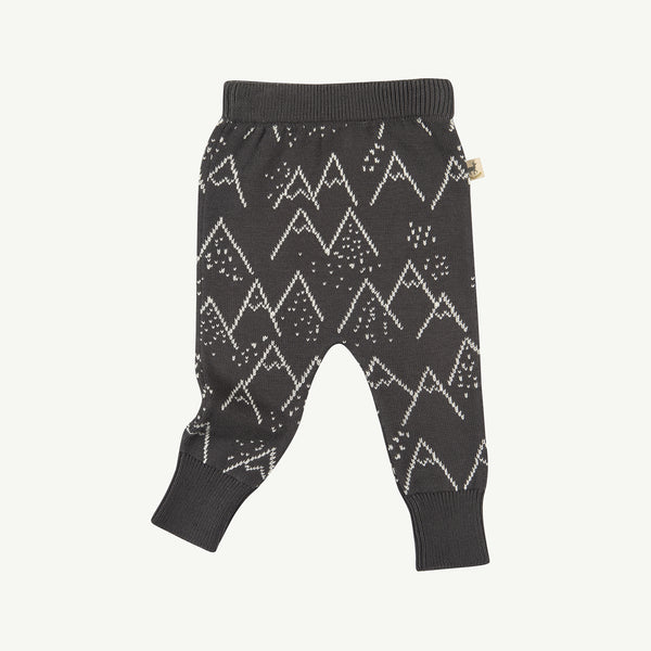 'little mountains' turkish coffee knitted pants