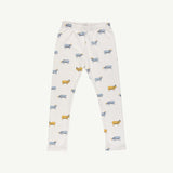 'golden blue goat' white sand leggings