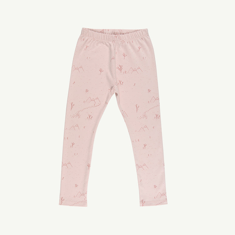'yeti tracks' peach whip leggings