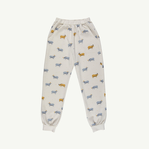 'golden blue goat' whisper white jogger