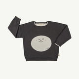 'happy moon' turkish coffee knitted sweater