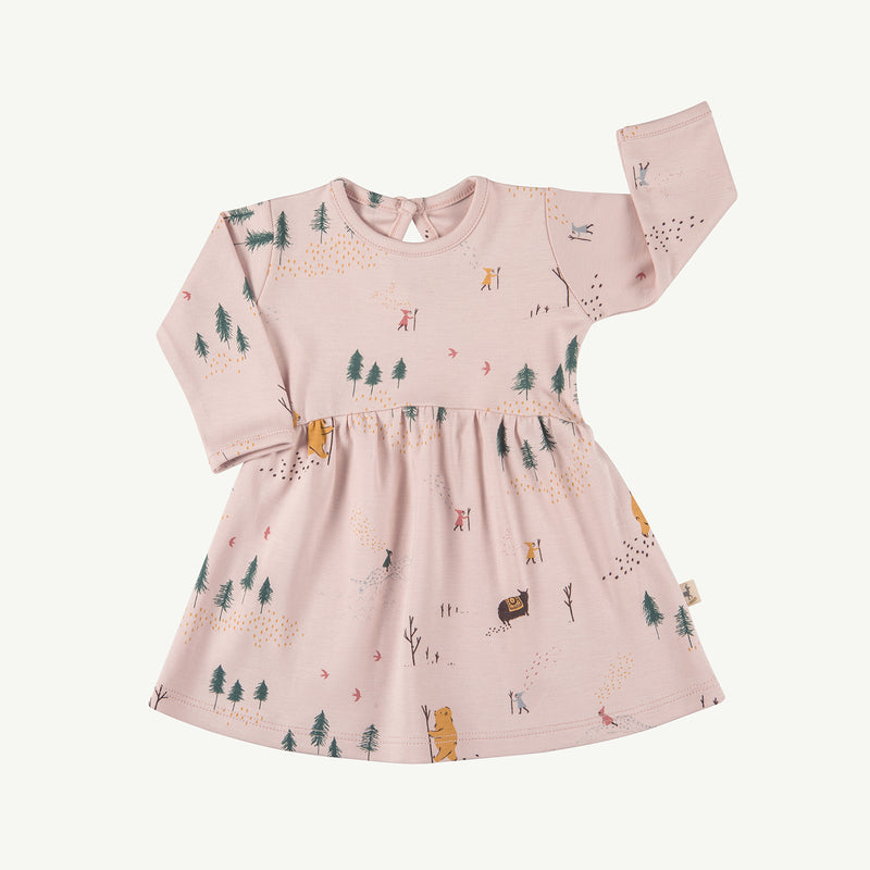 'up the mountain' peach whip tundra dress