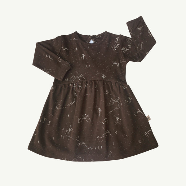 'yeti tracks' turkish coffee tundra dress