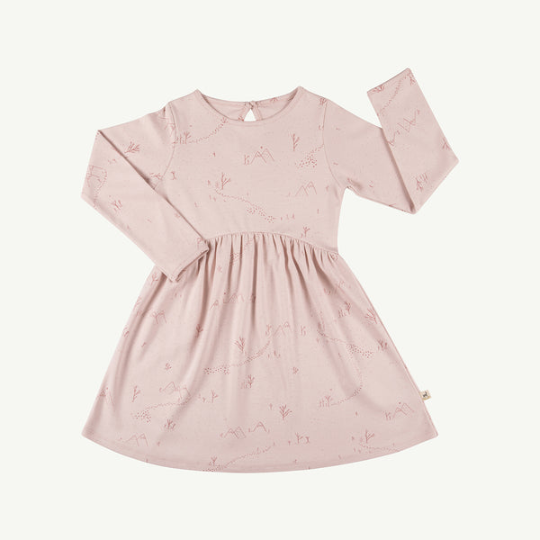 'yeti tracks' peach whip tundra dress