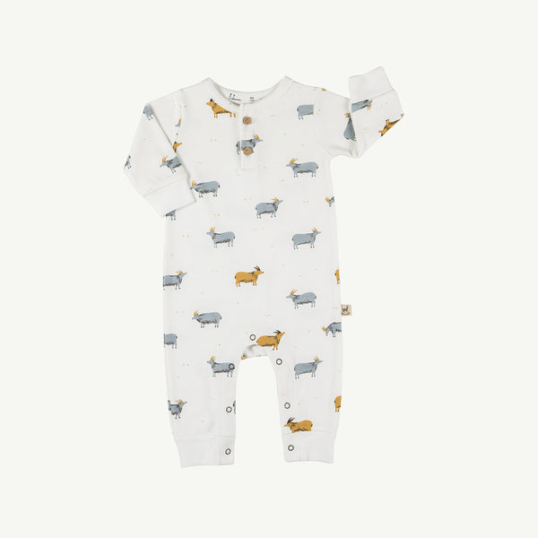 'golden blue goat' organic buttons jumpsuit