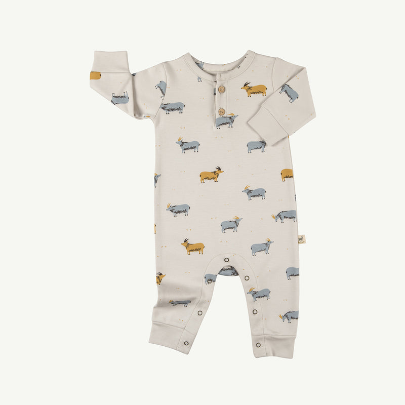 'golden blue goat' white sand buttons jumpsuit