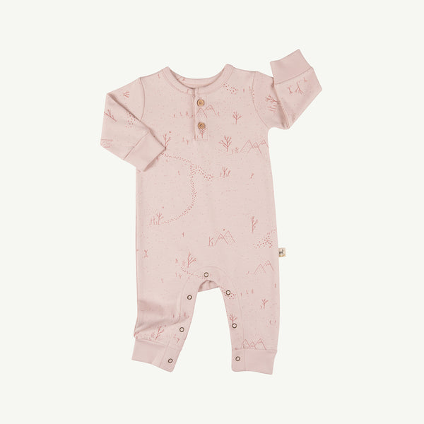 'yeti tracks' peach whip buttons jumpsuit