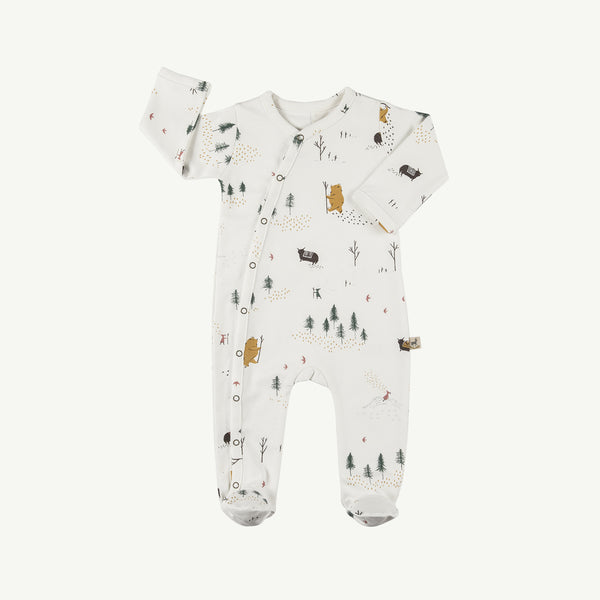'up the mountain' organic footed jumpsuit