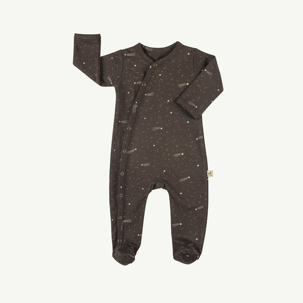'bright stars' turkish coffee footed jumpsuit