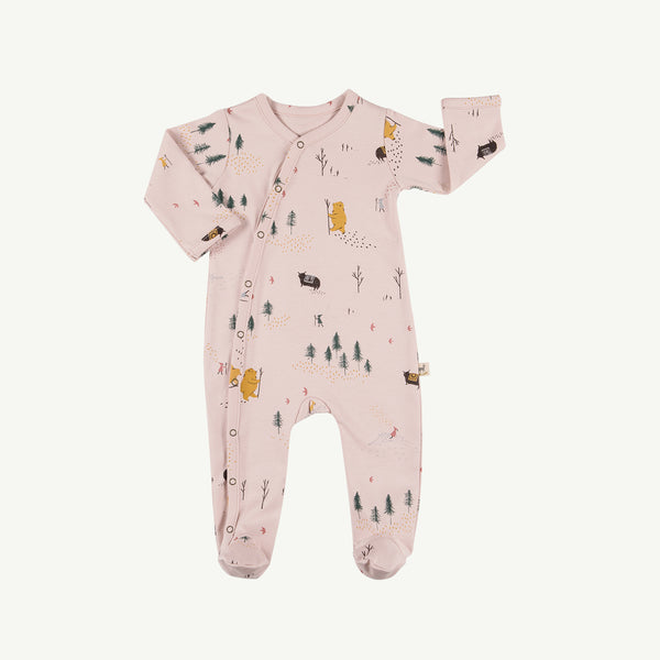 'up the mountain' peach whip footed jumpsuit