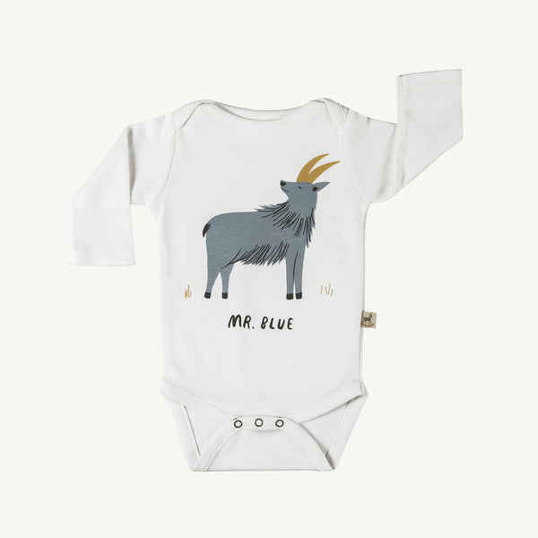 'mr. blue' organic onesie