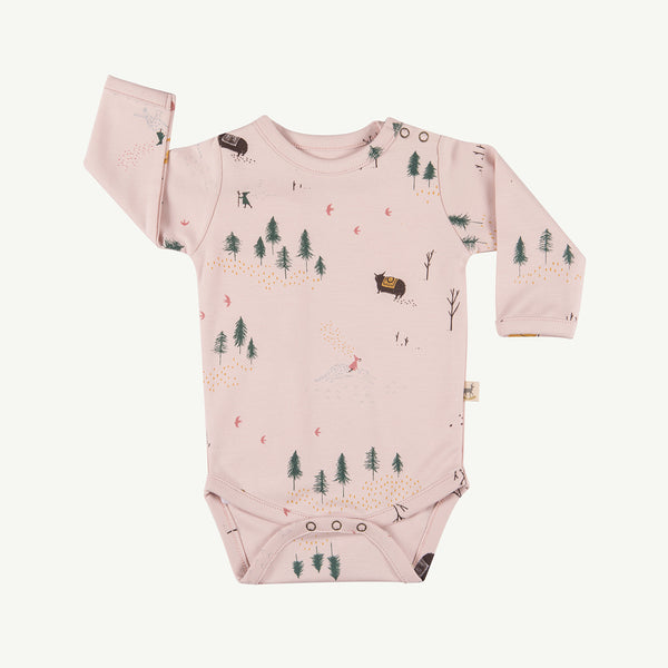 'up the mountain' peach whip onesie