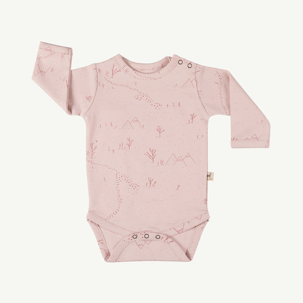 'yeti tracks' peach whip onesie
