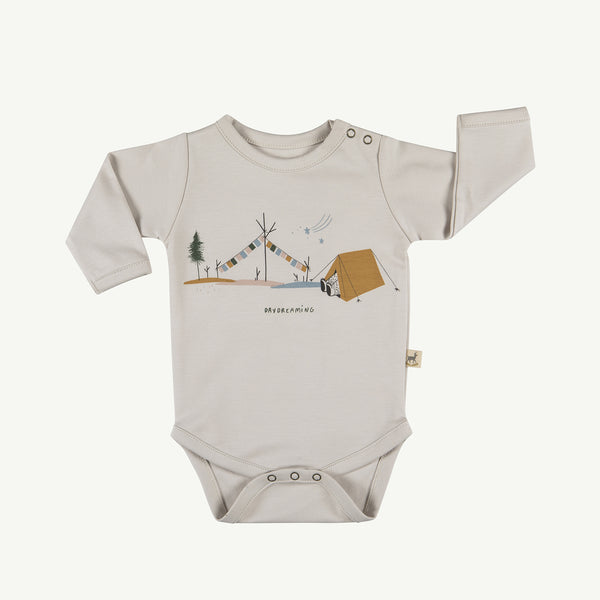 'day dreaming' white sand onesie