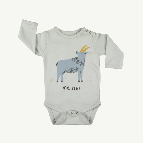 'mr. blue' sky gray onesie